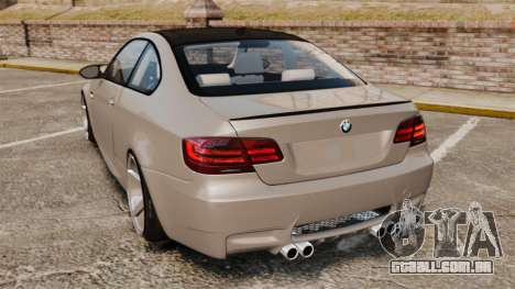 BMW M3 E92 2008 para GTA 4 traseira esquerda vista