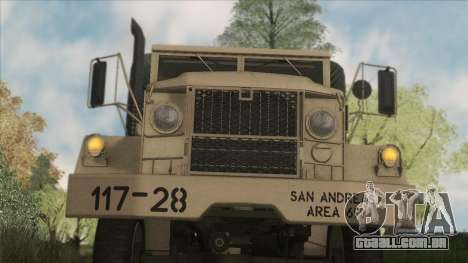 AM General M35A2 1950 para GTA San Andreas vista interior
