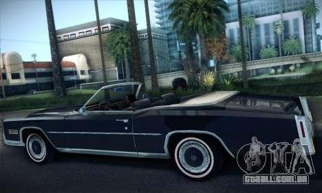 Cadillac Eldorado 1978 Convertible para GTA San Andreas vista direita
