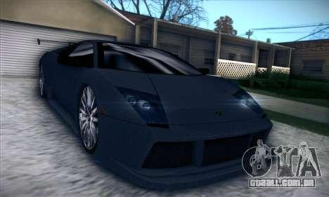 Lamborghini Murcielago GT Carbone para GTA San Andreas vista interior