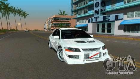Mitsubishi Lancer Evolution VIII Type 8 para GTA Vice City vista direita