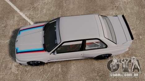 BMW M3 1990 Race version para GTA 4 vista direita
