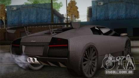 Lamborghini Murcielago GT Carbone para GTA San Andreas esquerda vista