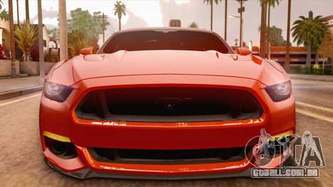 Ford Mustang GT 2015 para GTA San Andreas vista direita