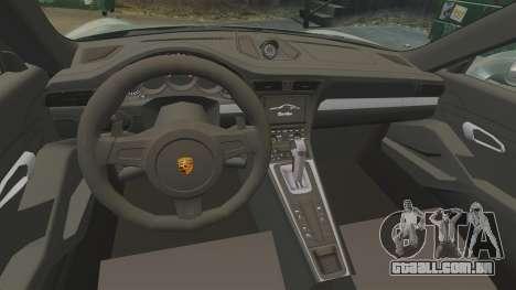 Porsche 911 Turbo 2014 [EPM] Ghosts para GTA 4 vista interior