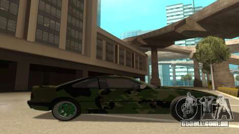 BMW 850CSi 1996 Military Version para GTA San Andreas traseira esquerda vista