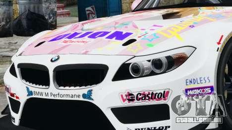 BMW Z4 GT3 2010 para GTA 4 vista de volta