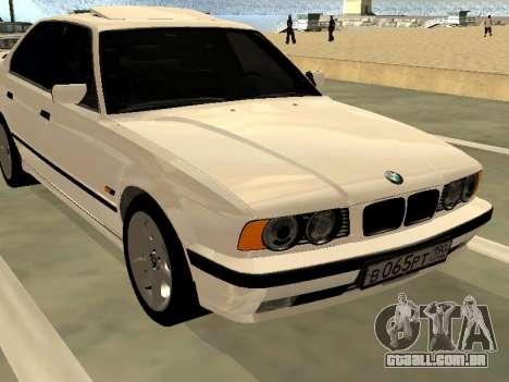 BMW 525 E34 para GTA San Andreas vista direita