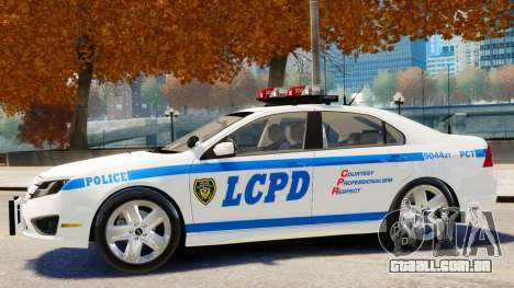 Ford Fusion LCPD 2011 [ELS] para GTA 4 traseira esquerda vista