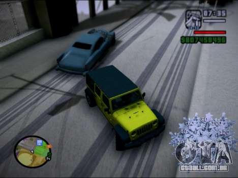 Jeep Wrangler Unlimited 2007 para GTA San Andreas esquerda vista