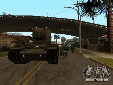 KV-2 para GTA San Andreas vista traseira
