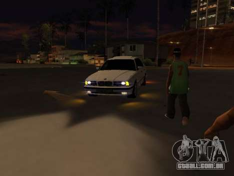 BMW 525 E34 para vista lateral GTA San Andreas