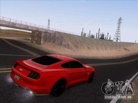 Ford Mustang GT 2015 para GTA San Andreas vista inferior