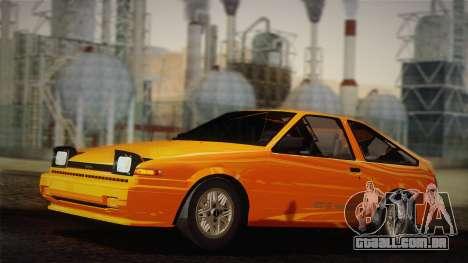 Toyota Corolla GT-S AE86 1985 para GTA San Andreas