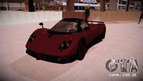 Pagani Zonda para GTA San Andreas traseira esquerda vista