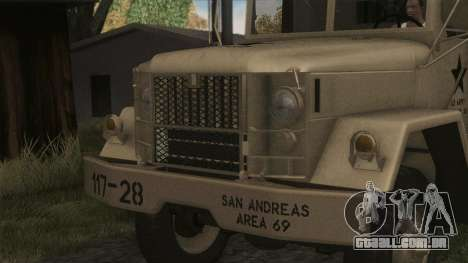 AM General M35A2 1950 para GTA San Andreas vista traseira