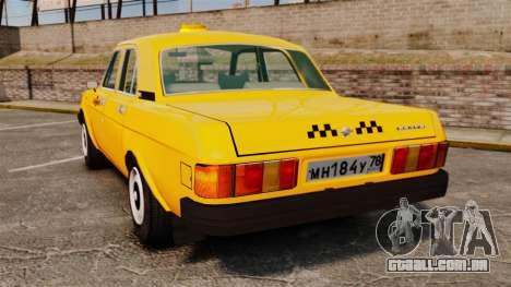 Gaz-31029 táxi para GTA 4 traseira esquerda vista