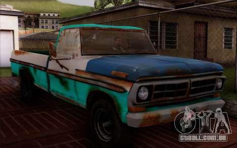 Ford F-150 Old Crate Edition para GTA San Andreas traseira esquerda vista