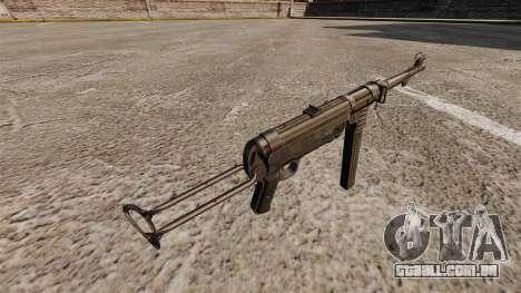 Pistola-metralhadora MP 40 para GTA 4 segundo screenshot