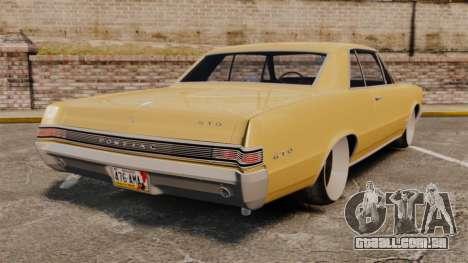 Pontiac GTO 1965 para GTA 4 traseira esquerda vista