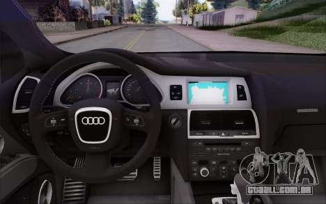 Audi Q7 Winter para GTA San Andreas vista direita