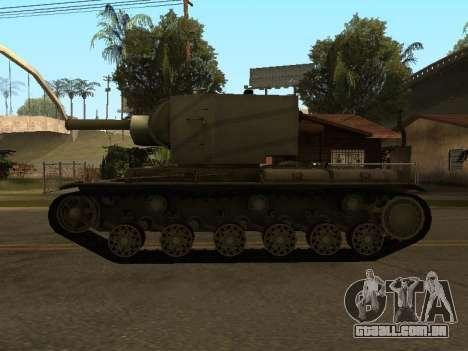 KV-2 para GTA San Andreas vista direita
