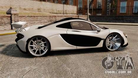McLaren P1 2014 para GTA 4 esquerda vista