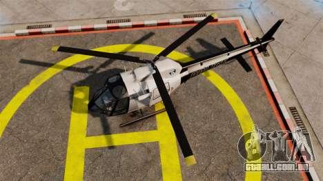 GTA V Police Maverick para GTA 4 traseira esquerda vista