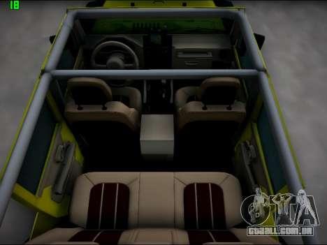 Jeep Wrangler Unlimited 2007 para vista lateral GTA San Andreas