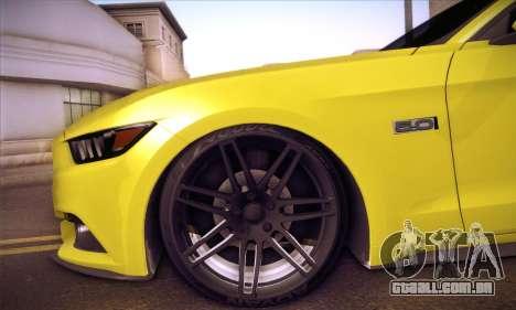 Ford Mustang 2015 Swag para vista lateral GTA San Andreas