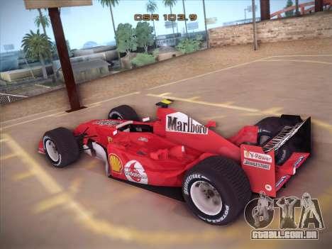 Ferrari F1 2005 para GTA San Andreas traseira esquerda vista