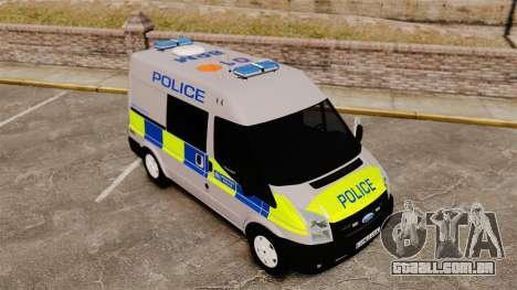 Ford Transit 2013 Police [ELS] para GTA 4 vista interior