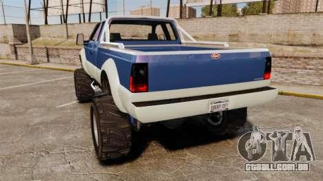 GTA V Vapid Sandking SWB 4500 para GTA 4 traseira esquerda vista
