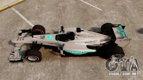 Mercedes AMG F1 W04 v6 para GTA 4 vista direita