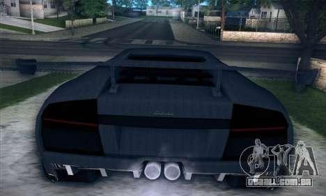 Lamborghini Murcielago GT Carbone para vista lateral GTA San Andreas