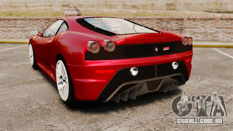 Ferrari F430 Scuderia 2007 para GTA 4 traseira esquerda vista