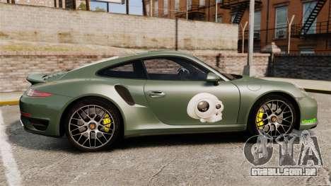 Porsche 911 Turbo 2014 [EPM] Ghosts para GTA 4 esquerda vista
