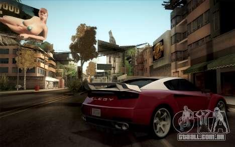 Elegy RH8 from GTA V para GTA San Andreas vista direita