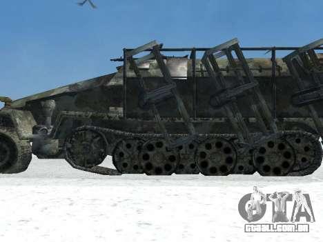 SdKfz 251 para GTA San Andreas traseira esquerda vista