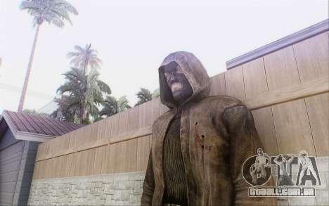 Bandido com o manto para GTA San Andreas por diante tela