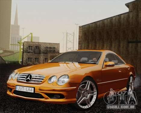 Mercedes-Benz CL65 para GTA San Andreas traseira esquerda vista