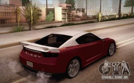 Elegy RH8 from GTA V para GTA San Andreas traseira esquerda vista