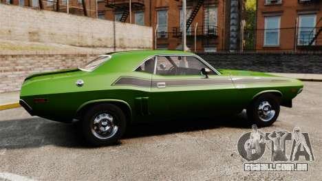 Dodge Challenger 1971 v2 para GTA 4 esquerda vista