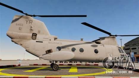 Boeing CH-46D Sea Knight para GTA 4 esquerda vista