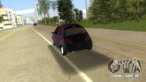 Ford Ka para GTA Vice City vista traseira