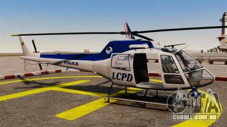 GTA V Police Maverick para GTA 4 vista interior
