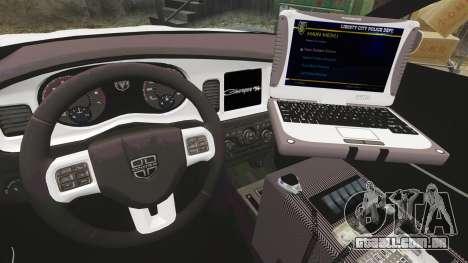 Dodge Charger 2012 LCPD [ELS] para GTA 4 vista de volta