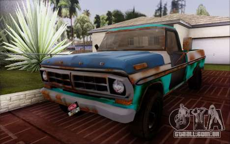 Ford F-150 Old Crate Edition para GTA San Andreas vista direita