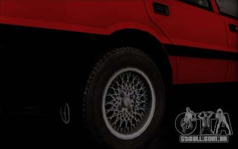 FSO Polonez Caro 1.4 GLI 16V para GTA San Andreas traseira esquerda vista