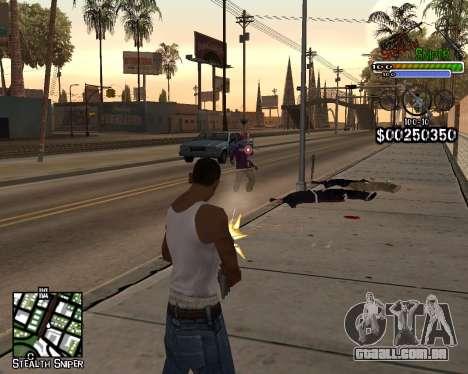 C-HUD by Stealth Sniper para GTA San Andreas